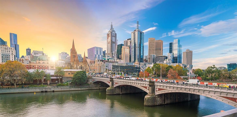 View of Melbournes CBD