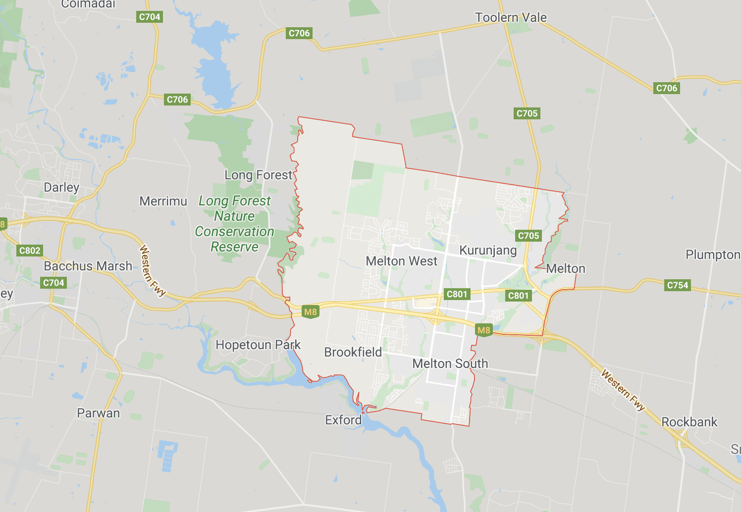 Map of Melton Victoria