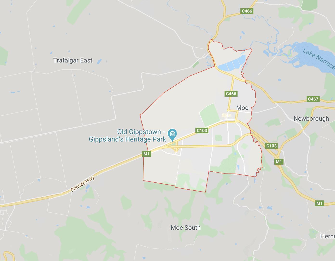 Map of Moe Victoria